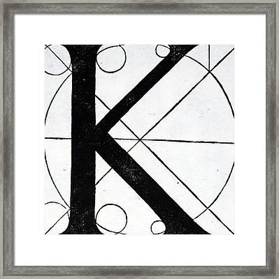 Letter K Framed Print by Leonardo Da Vinci