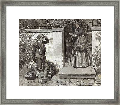 Letter Of Introduction  Framed Print by Howard Pyle