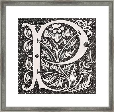 Letter P Framed Print by French School