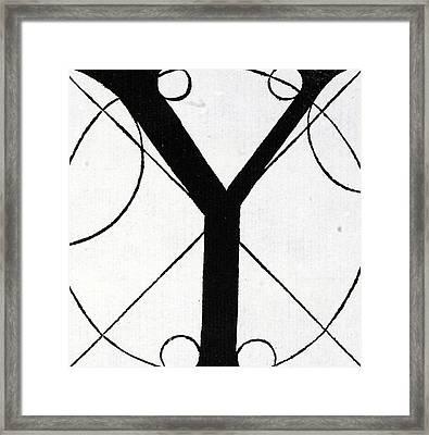 Letter Y Framed Print by Leonardo Da Vinci