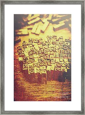 Letterpress Industrial Pop Art Framed Print by Jorgo Photography - Wall Art Gallery