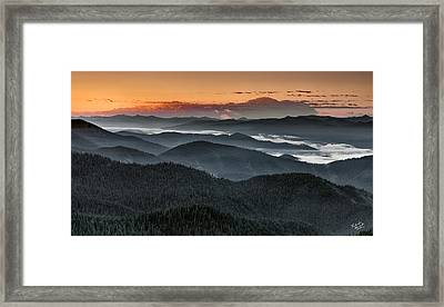 Lewis And Clark Route Framed Print by Leland D Howard