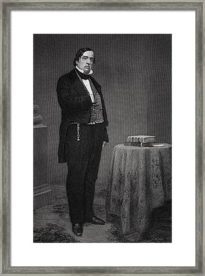 Lewis Cass 1782 To 1866. American Army Framed Print by Vintage Design Pics