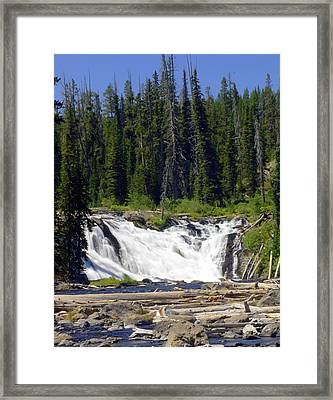 Lewis Falls Framed Print by Marty Koch