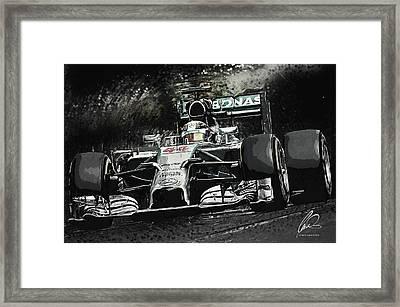 Lewis Hamilton Framed Print by Taylan Soyturk