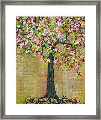Lexicon Tree Of Life 4 Framed Print by Blenda Studio