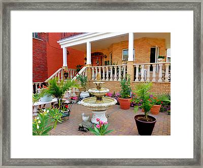 lFountain in the garden 1 Framed Print by Lanjee Chee