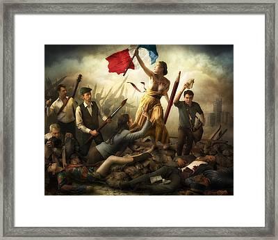 Liberta? D'expression Framed Print by Christophe Kiciak
