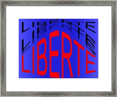 Liberte Framed Print by Helmut Rottler