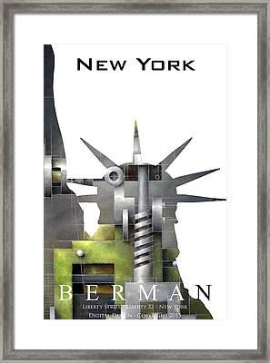 Liberty 32 - New York Framed Print by Ken Berman