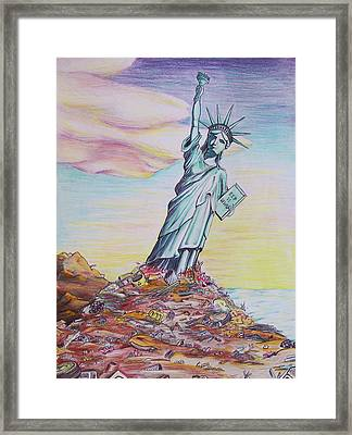 Liberty Abandon Framed Print by Donovan Hubbard