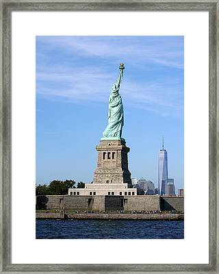 Liberty And Freedom Framed Print by Richard Reeve