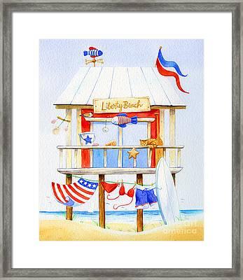 Liberty Beach Framed Print by Laura Nikiel