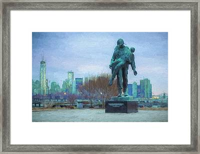 Liberty Park Holocaust Memorial Framed Print by JC Findley