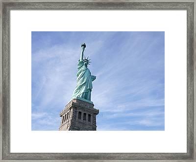 Liberty Rising Framed Print by Richard Reeve