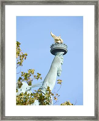 Liberty Torch Framed Print by Richard Reeve