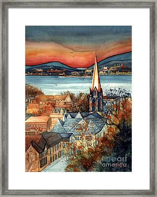 Liberty's Light - Newburgh Ny Framed Print by Janine Riley