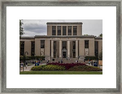 Library At Penn State University  Framed Print by John McGraw