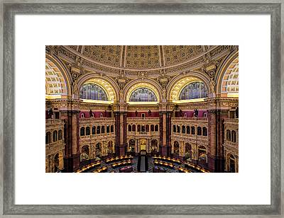 Library Of Congress Framed Print by Andrew Soundarajan