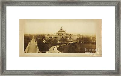 Library Of Congress Library At Washington Framed Print by Celestial Images