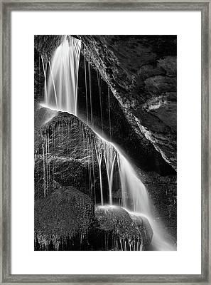 Lichtenhain Waterfall - Bw Version Framed Print by Andreas Levi