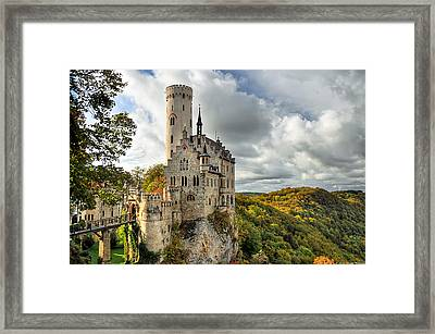 Lichtenstein Castle Framed Print by Ryan Wyckoff