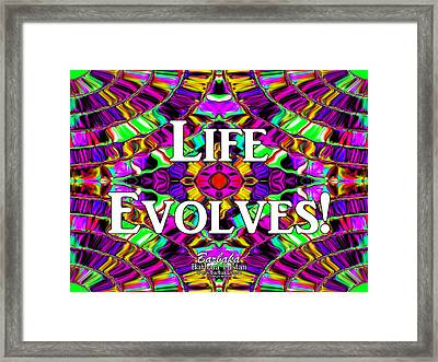 Life Evolves Framed Print by Barbara Tristan