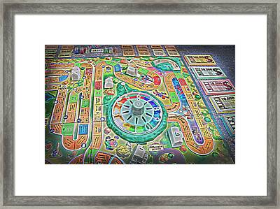 Life Game 7 - Painterly Framed Print by Steve Ohlsen
