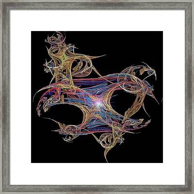 Life Is A Masquerade Framed Print by Michael Durst