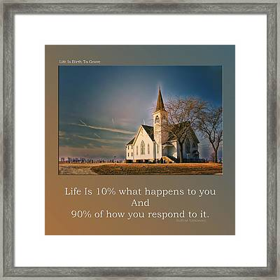 Life Is Birth To Grave Framed Print by Thomas Woolworth