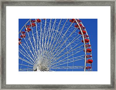 Life Is Like A Ferris Wheel Framed Print by Christine Till