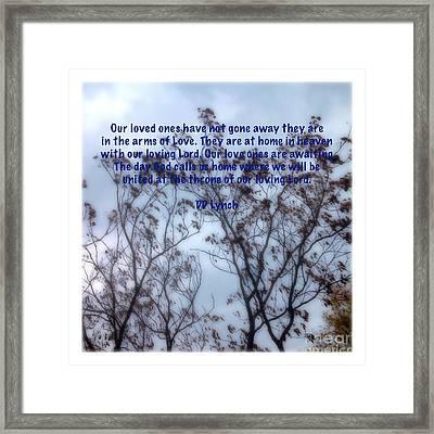 Life Is Not Lost Framed Print by Debra Lynch