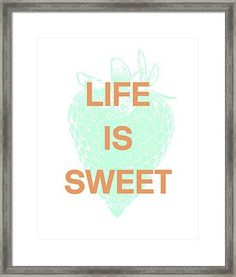 Life Is Sweet- Art By Linda Woods Framed Print by Linda Woods