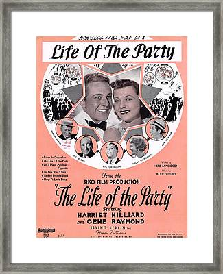 Life Of The Party Framed Print by Mel Thompson