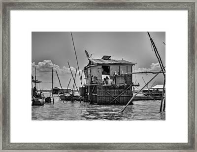 Life On The Lake Framed Print by Georgia Fowler