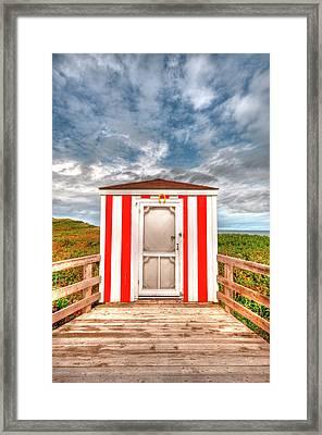 Lifeguard Hut Framed Print by Elisabeth Van Eyken