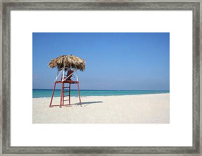 Lifeguard Framed Print by Joe Burns