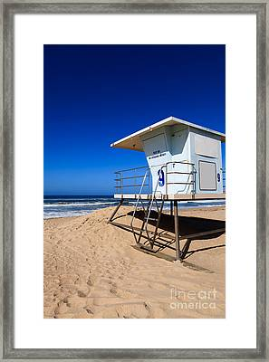 Lifeguard Tower Photo Framed Print by Paul Velgos