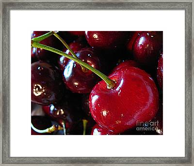 Life's A Bowl Of Cherries Framed Print by Colleen Kammerer