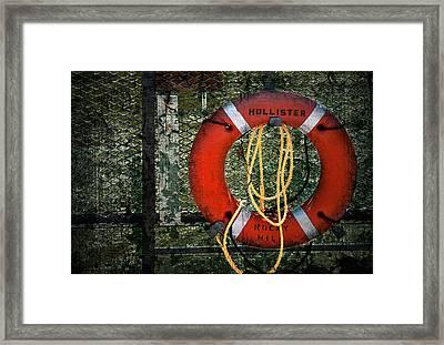 Lifesaver Framed Print by Evelina Kremsdorf
