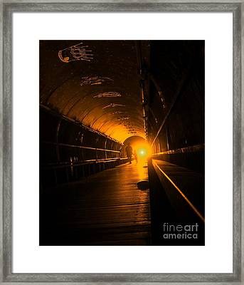 Light At The End Of The Tunnel Framed Print by Yali Shi