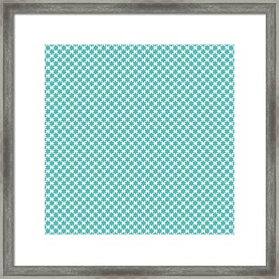 Light Blue Star Of David- Art By Linda Woods Framed Print by Linda Woods