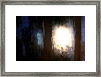 Light Breaking Through The Dark Forest Framed Print by Johann Todesengel