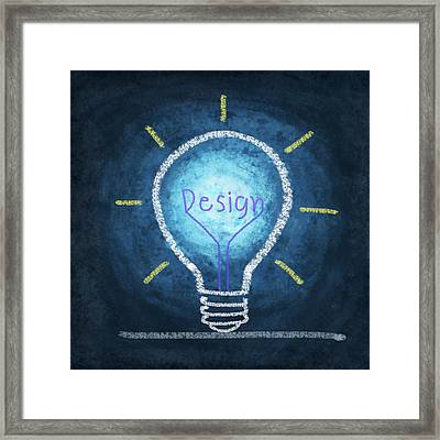 Light Bulb Design Framed Print by Setsiri Silapasuwanchai