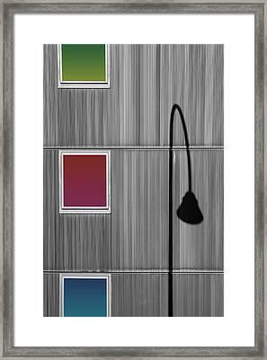 Light Diffraction Framed Print by Bastian Kienitz