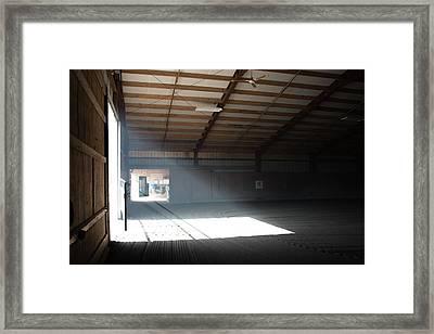 Light In The Ring Framed Print by Guy Whiteley