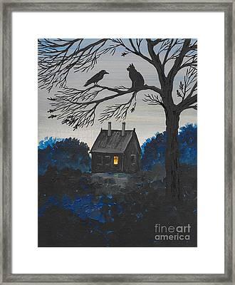 Light In The Window Framed Print by Margaryta Yermolayeva