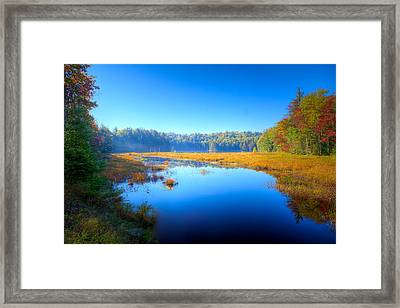 Light Mist Over Cary Lake Framed Print by David Patterson