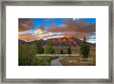 Light On My Path Framed Print by Robert Bales