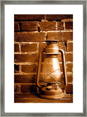 Light Past - Sepia Framed Print by Olivier Le Queinec
